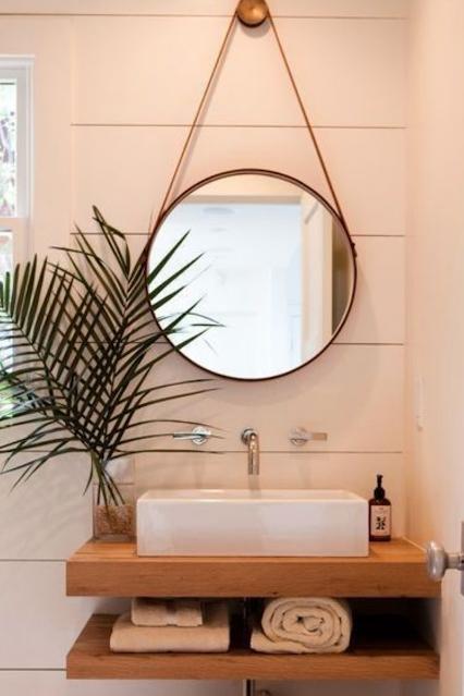 decoração banheiro espelho adnet