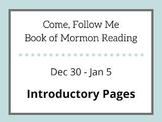 Book of Mormon Study Reminder for Come Follow Me Dec 30 - Jan 5