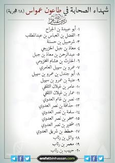 20 sahabat nabi yang syahid karena wabah amwas tahun 18 hijriah