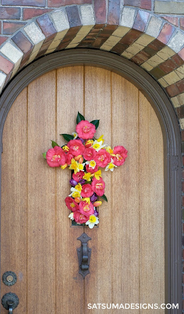 Spring Cross Wreath