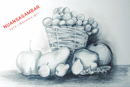 Menggambar buah menggunakan pencil [Drawing fruits using a pencil]