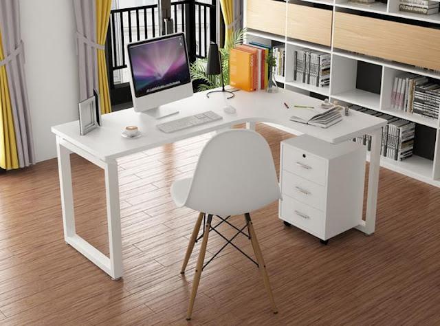Tối ưu không gian với bàn làm việc chữ L