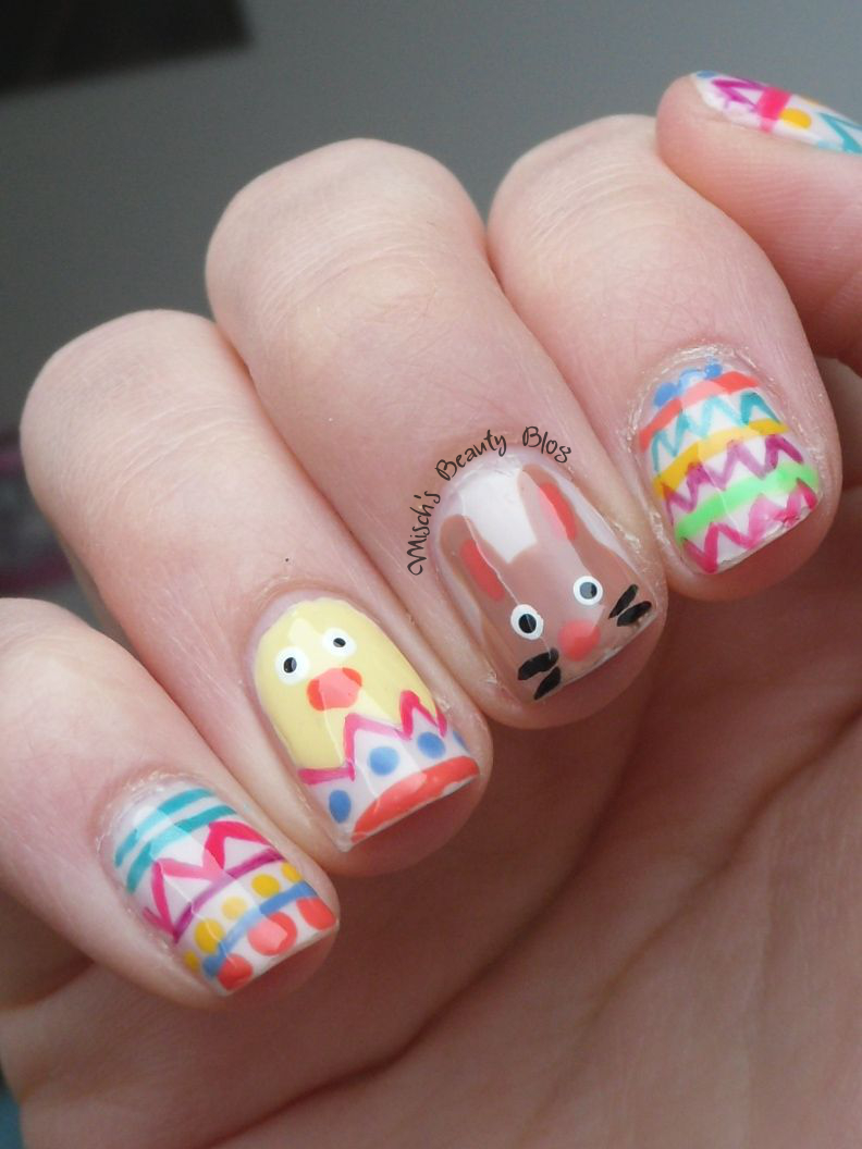 Misch's Beauty Blog: NOTD April 1st: Easter Nail Art