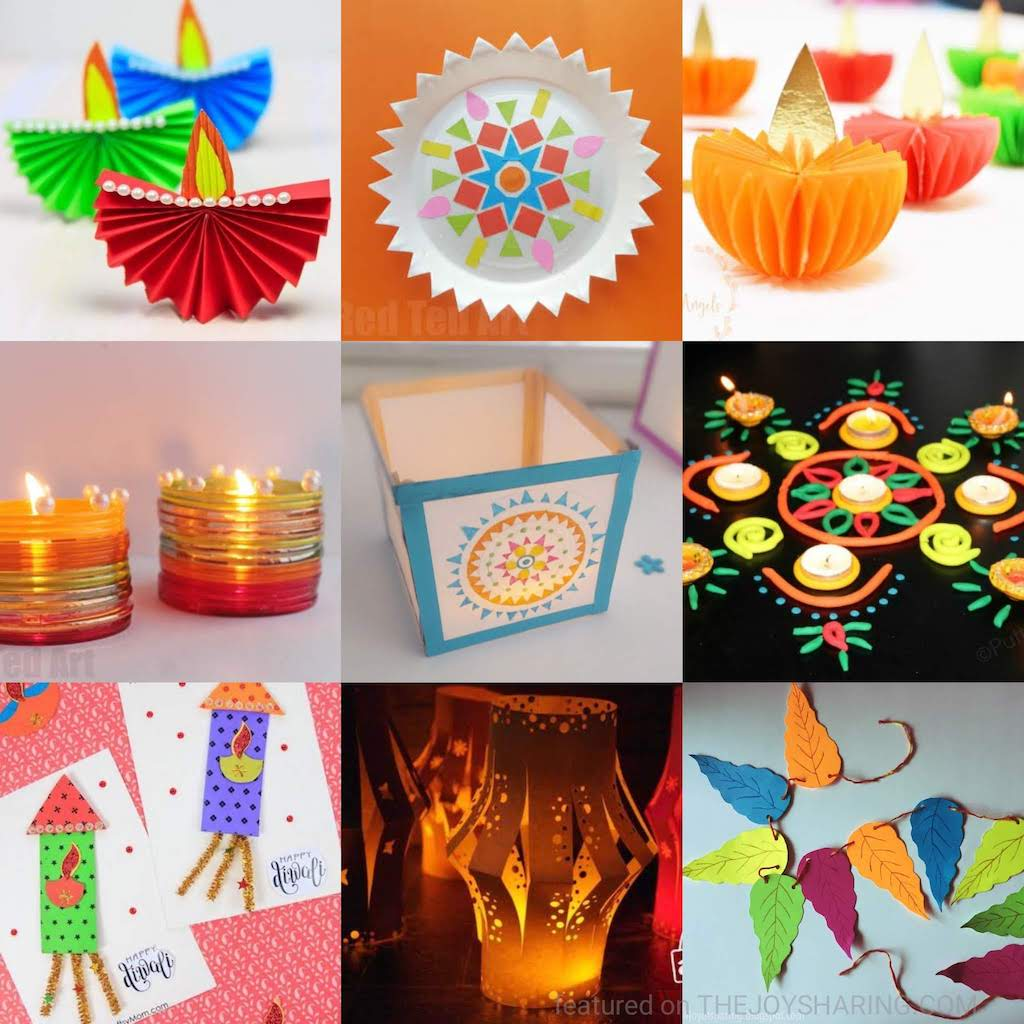 Diwali Crafts, Diwali Decoration Ideas, Diwali Card Ideas, Diwali Handmade Gifts, Craft ideas for Diwali, Easy crafts for diwali, Diwali Diya Tutorial, Easy Rangoli ideas for Diwali, Diwali kandil crafts