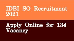 IDBI Bank Ltd. recruitment 2021, jobs at Online for Specialist Cadre Officer Posts recruitment 2021,bank jobs,career news,latest job alert,job alert