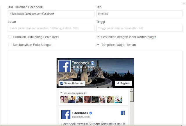 plugins halaman facebook