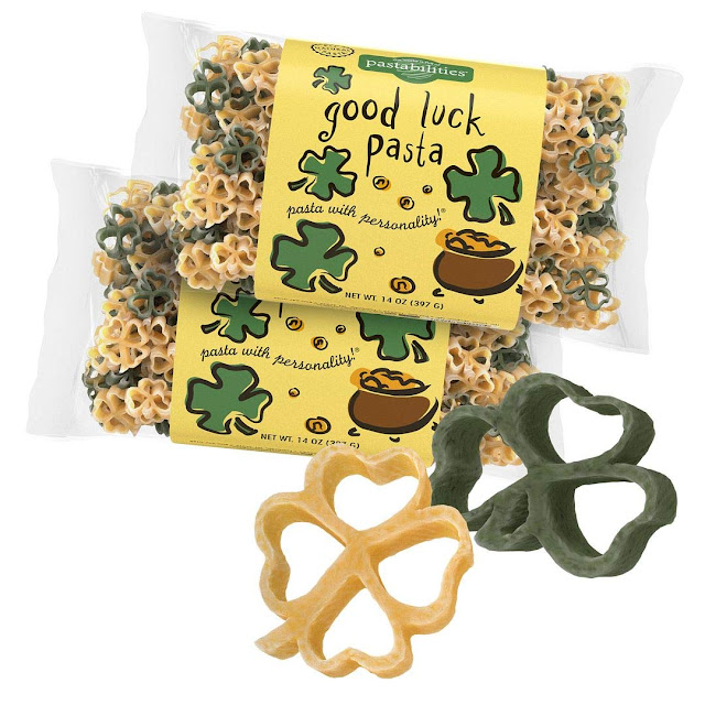 Pastabilities Good Luck Shaped Pasta with Shamrocks for St Patrick's Day, Non-GMO Wheat Pasta