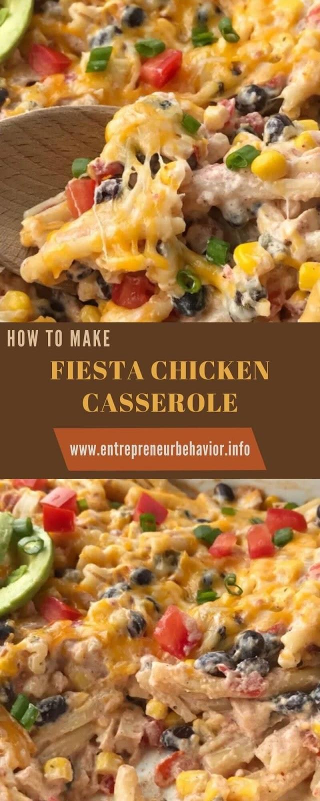HOW TO MAKE FIESTA CHICKEN CASSEROLE