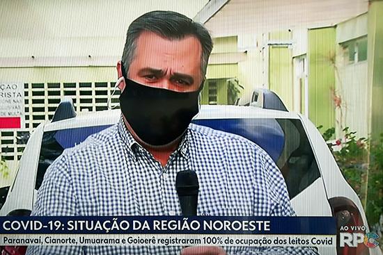 Secretário Beto Preto em entrevista à RPC sobre o recorde de novos casos da covid-19. Café com Jornalista