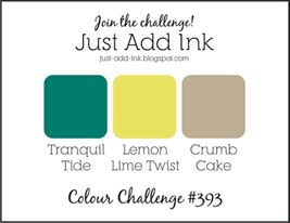 Jo's Stamping Spot - Just Add Ink #393 Colour Challenge