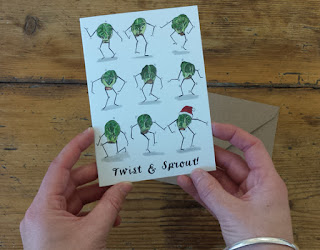 Twist and Sprout Christmas Card by Alice Draws The Line