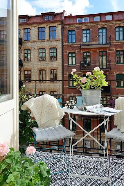 Apartamento estilo nórdico... e cheio de cor