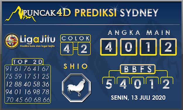 PREDIKSI TOGEL SYDNEY PUNCAK4D 13 JULI 2020