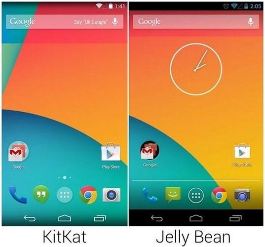 Perbedaan Android Kitkat dan Jelly Bean
