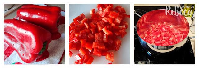 Receta de mermelada de pimientos rojos: preparación de los pimientos