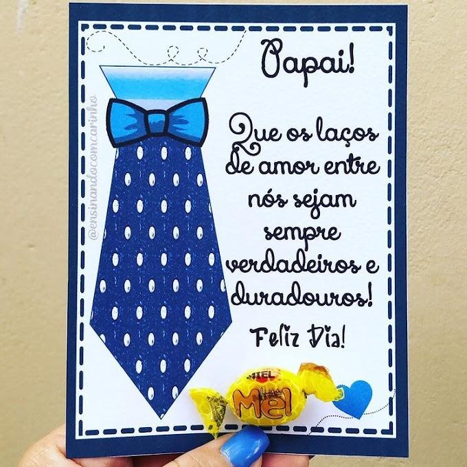 Cartão gravatinha para o dia dos pais