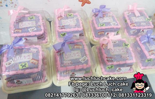 Souvenir Ulang Tahun Tema Minicraft Edible Image