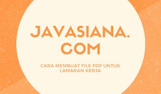 Cara Membuat File PDF Lamaran Kerja Online di Hp Android