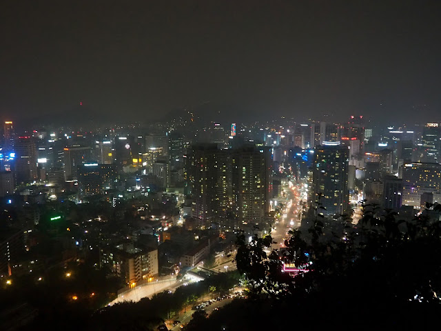View from Namsan mountain at night of Seoul, South Korea