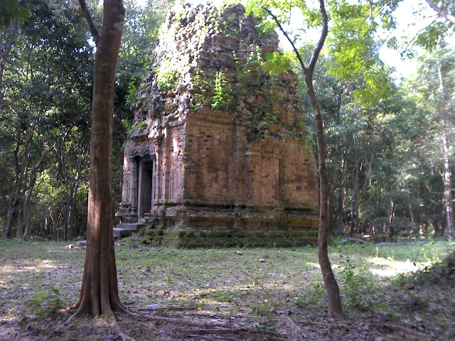 Templos de templos de Sambor Prei Kuk en Kompong Thom en Camboya