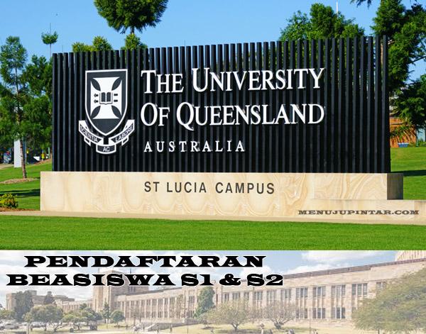 The University of Queensland Australia Beasiswa S1 & S2