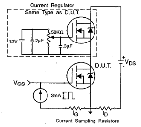 IRF510 Gate Charge Test Circuit Diagram and Datasheet