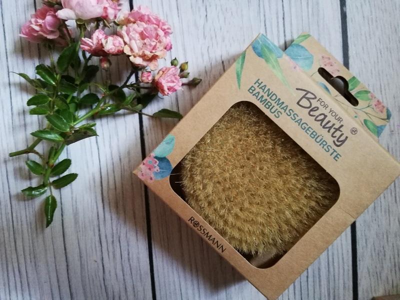 For Your Beauty bambusowa szczotka do masażu manualnego