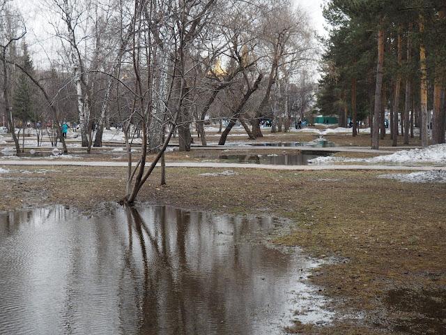 Новосибирск, Нарымский сквер - весна