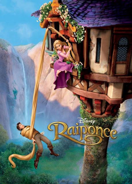 """Cartel en inglés de la película de Disney del año 2010 """"Enredados"""""""