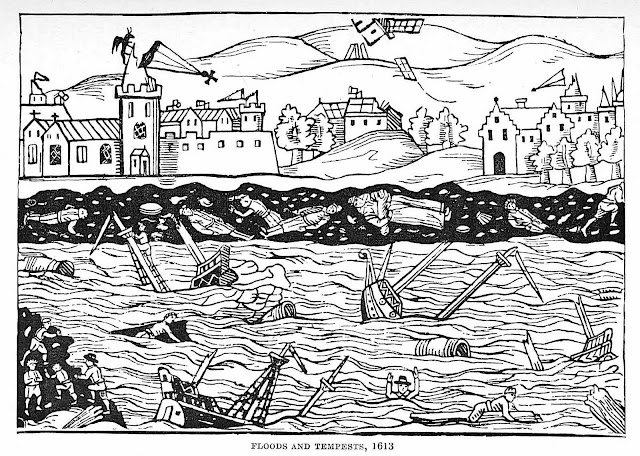 a 1613 illustration of floods and tempests
