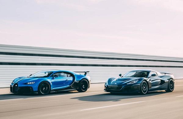 Bugatti Chiron y Rimac Nevera
