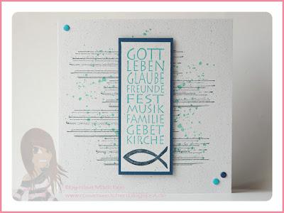 Stampin' Up! rosa Mädchen Kulmbach: Konfirmations- / Kommunionkarten mit Gorgeous Grunge