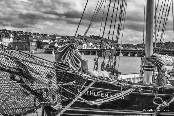 Kathleen and May alongside Bideford Quay 2010. Photo copyright Pat Adams North Devon Focus (All Rights Reserved)