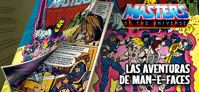 Minicómic Las aventuras de Man-E-Faces Mattel 1982