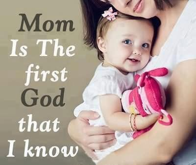 mom is the first god mothers day images 2020