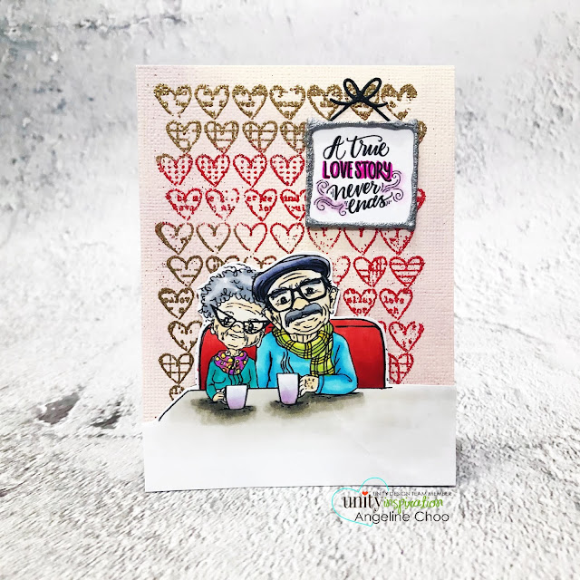 ScrappyScrappy: Feb New Release with Unity Stamp - Not Sick of You #scrappyscrappy #unitystampco #youtube #quicktipvideo #papercrafting #cardmaking #card #stamping #tierrajackson #notsickofyou #oldcouple #loveinthebackground #backgroundstamp #nuvostonedrop #tonicstudios #averyelle #framedie #photoframe #zingembossing #multicolorembossing #copicmarkers #cafescene #timholtz #distressoxideinks #atruelovestoryneverends