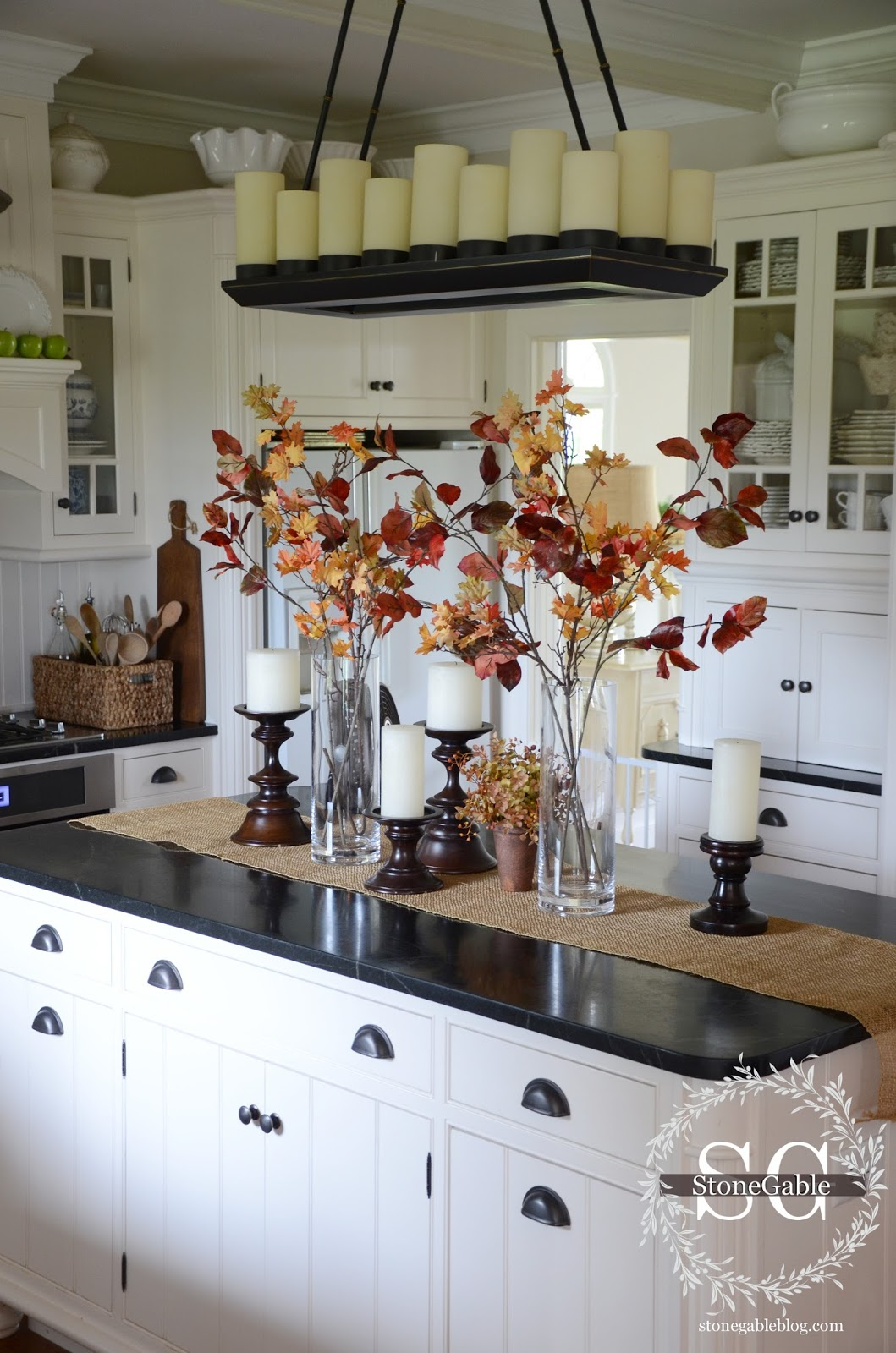 Fall Kitchen Island Decor