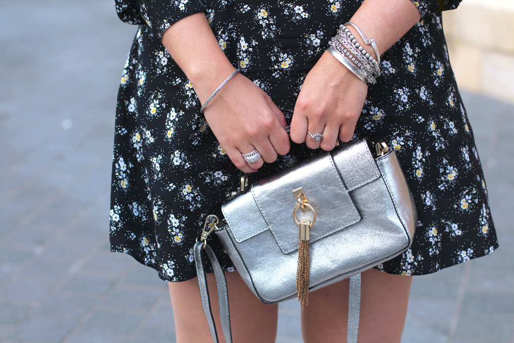 Metallic leather mini bag - UK style & culture blog