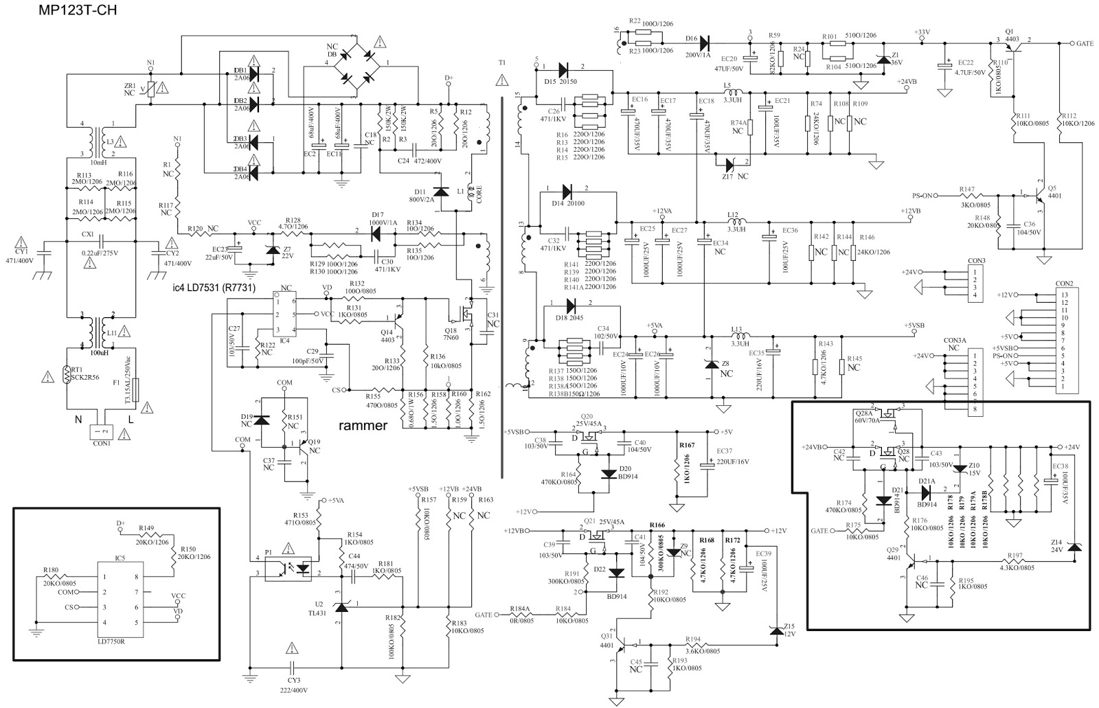 Lcd Tv Schematic Diagrams  Electro Help Samsung Lcd Tv
