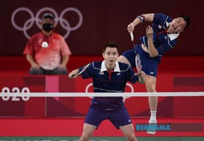 Sukan olimpik tokyo, sukan olimpik, badminton, sukan,  pingat gangsa, pingat olimpik malaysia, tahniah Aaron Chia dan Soh Wooi Yik, regu badminton