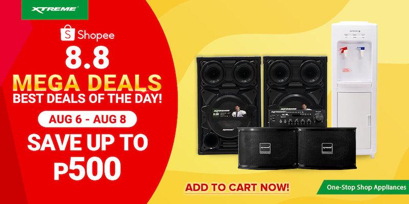 XTREME appliances on sale at Shopee 8.8 Mega Deals