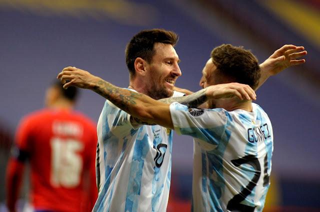 Messi y Papu