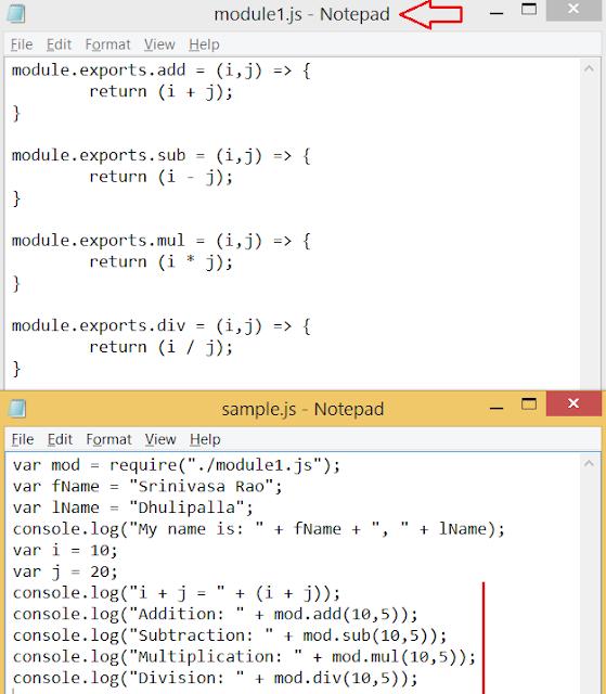 Node.js Module Exports
