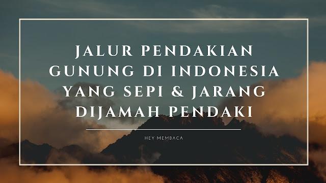 Jalur Pendakian Gunung di Indonesia yang Sepi dan Jarang Dijamah Pendaki