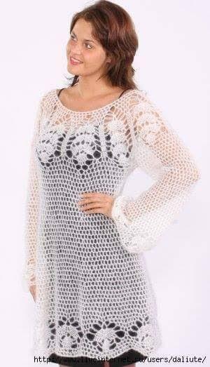 aea67e6f8 Vestido Crochê - Katia Ribeiro Crochê Moda e Decoração