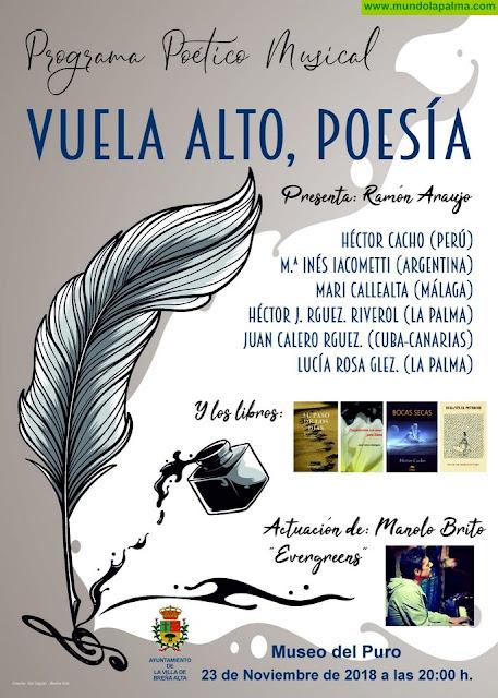Breña Alta presenta el programa poético musical 'Vuela Alto Poesía' este viernes en el Museo del Puro