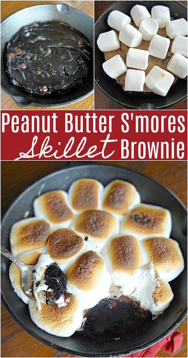 Peanut Butter S'mores Skillet Brownie