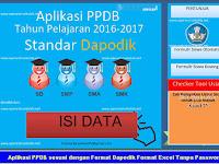 Aplikasi PPDB sesuai dengan Format Dapodik Format Excel Tanpa Password