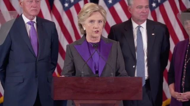 Hillary Clinton speech after losing election