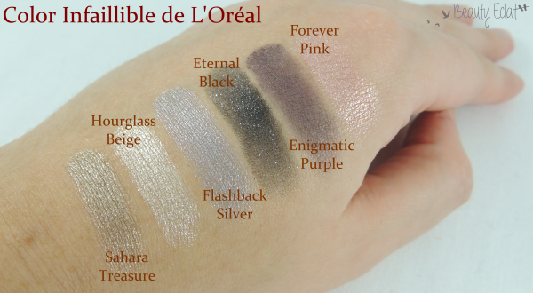 revue avis test color infaillible l'oreal swatch
